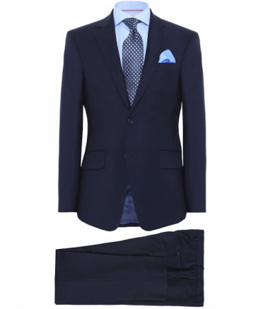 Slim Fit Plain Wool Suit