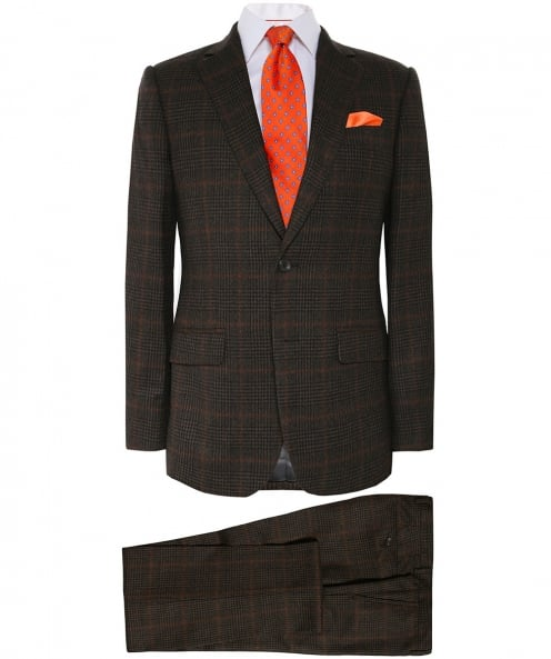 Hackett Wool Flannel Check Suit