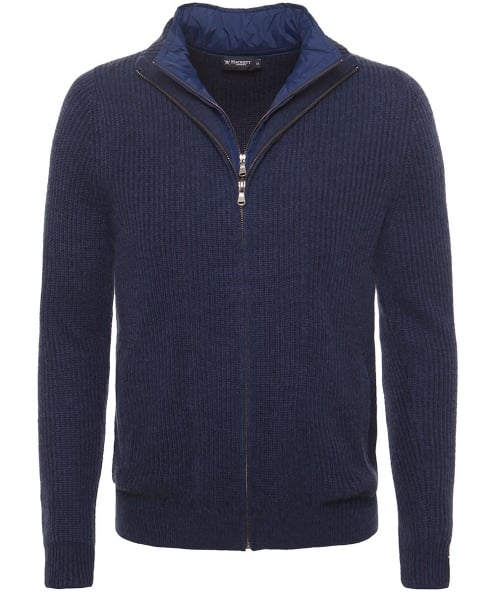 Hackett Zip-Through Double Layer Cardigan