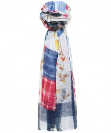 Alfresco Patchwork Cotton Scarf