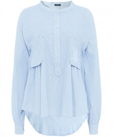 Ethos Embroidered Cotton Shirt