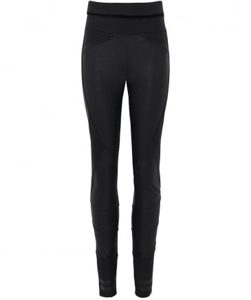 Leather Effect Lay-Out Leggings