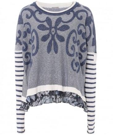 Marina Floral Stripe Sweater