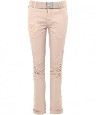 Ruched Leg Belted Trousers
