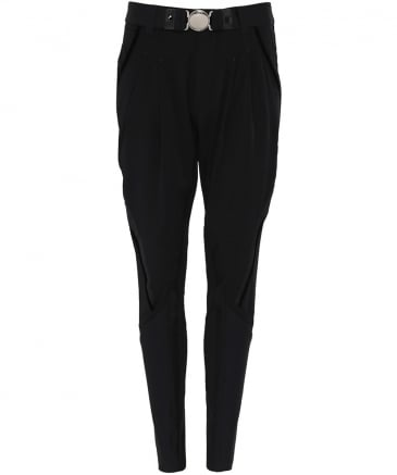 Stretch Nylon Skive Tapered Trousers