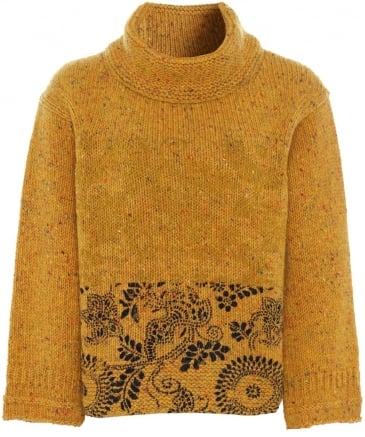 Virgin Wool Klimt Flock Print Sweater