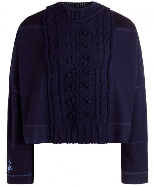 High Wool Cable Knit Jumper