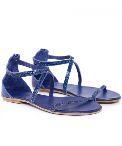 Inuovo Diamante Cross Ankle Sandals