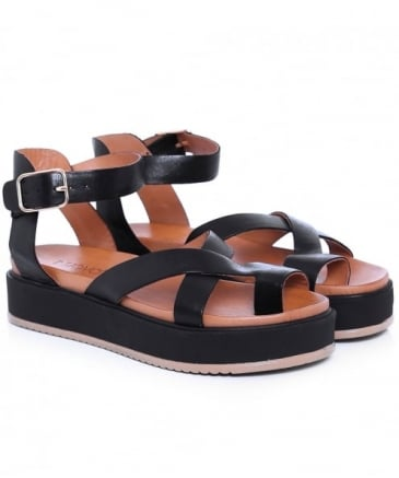 Leather Multi Strap Sandals