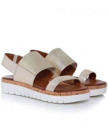 Leather Two Bar Sandals