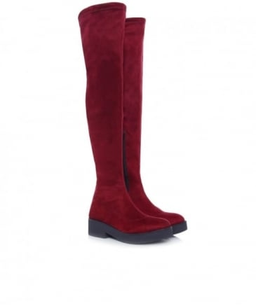 Sappho Chunky Suede Effect Boots