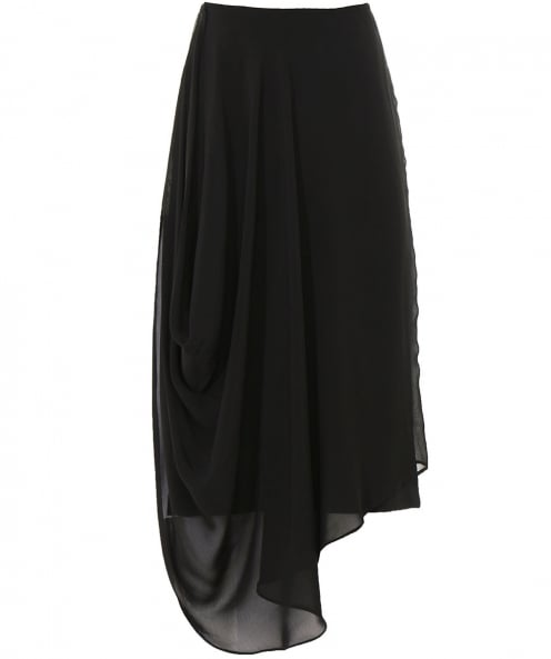 Isabel de Pedro Chiffon Overlay Pencil Skirt