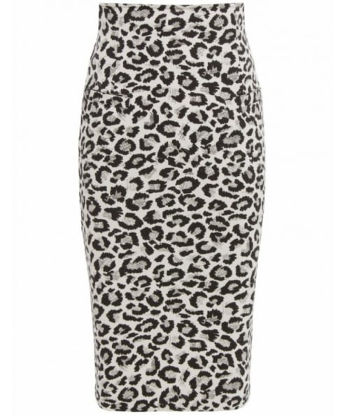 Isabel de Pedro Leopard Print Pencil Skirt