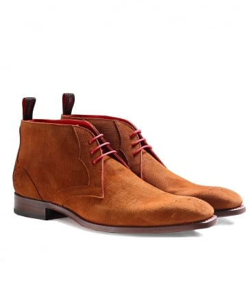 Leather Waster Libertine Chukka Boots