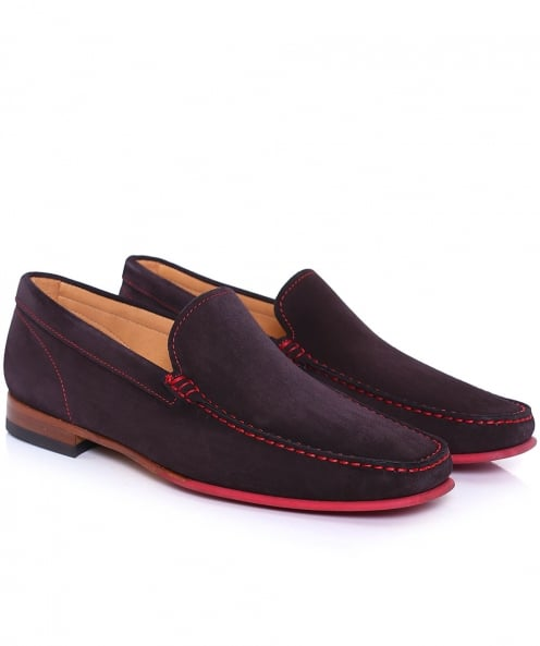 Joss Suede Contrast Sole Loafers
