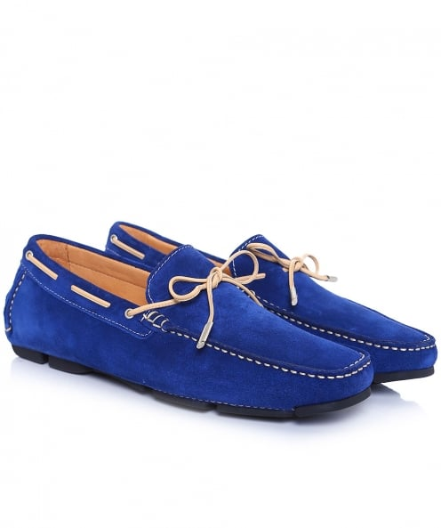 Joss Suede Lace Moccasins