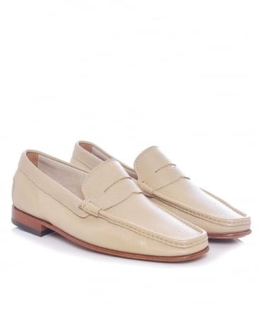 Tumbled Leather Penny Loafers