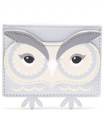 Leather Owl Card Holder