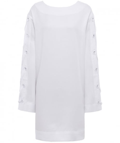 Kendall and Kylie Bell Sleeve Grommet Dress