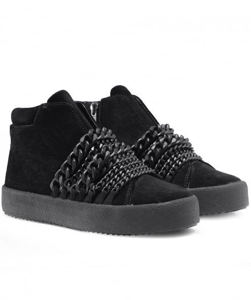 Kendall and Kylie Leather Duke Astana Chain Trainers