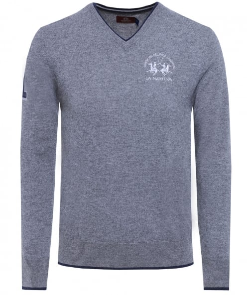 La Martina Lambswool V-Neck Anton Jumper
