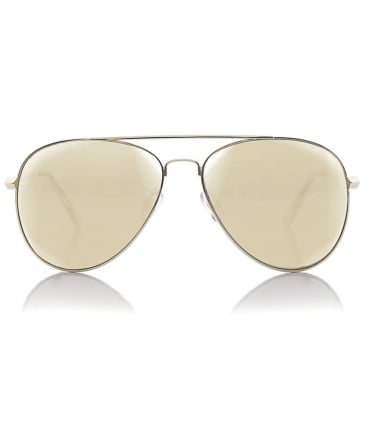 Drop Top Gold Mirror Sunglasses
