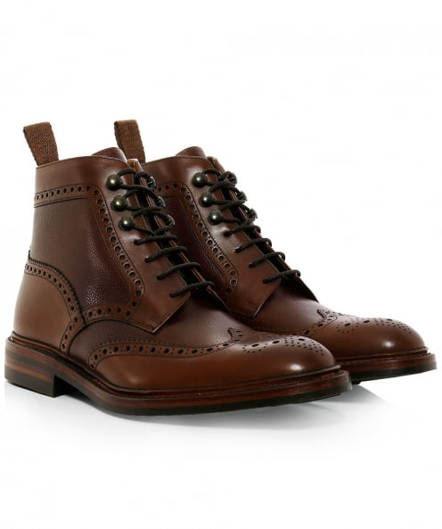 Loake Calf Leather Bosworth Derby Boots