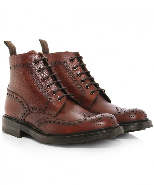 Loake Grain Leather Bedale Brogue Boots