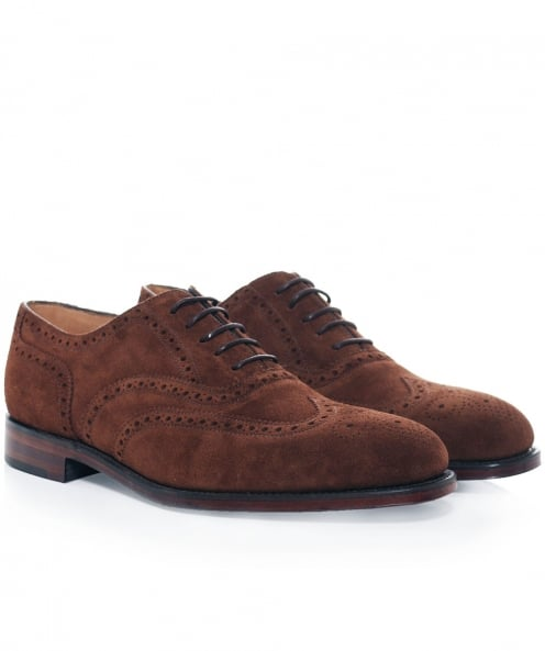 Loake Polo Suede Buckingham Brogues
