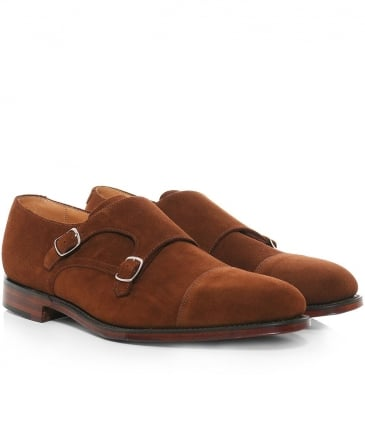 Suede Cannon Double Monk Strap Shoes