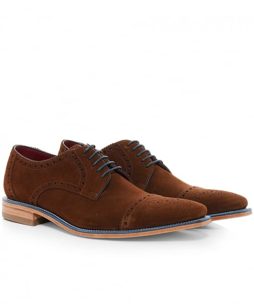 Loake Suede Foley Derby Shoes