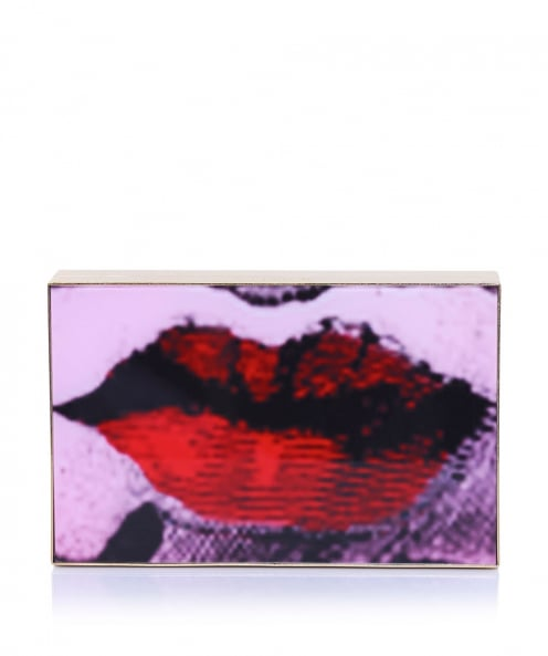 Lulu Guinness Olivia Rose Lips Clutch Bag