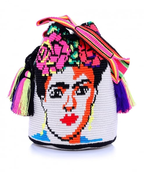 Lume Bags Large Frida Puebla Bucket Bag