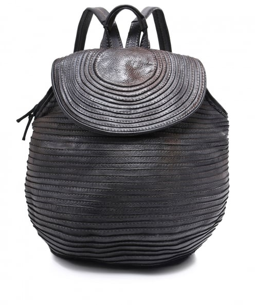 Majo Slouchy Leather Backpack