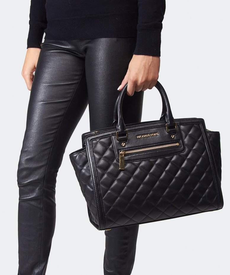 michael michael kors selma quilted large tote bag available at jules b. Black Bedroom Furniture Sets. Home Design Ideas