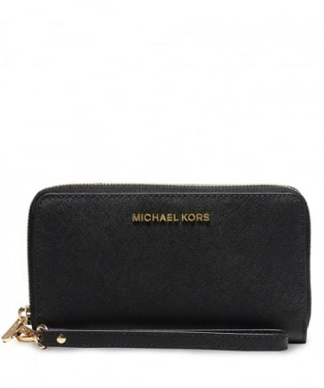 Saffiano Leather Smartphone Wristlet