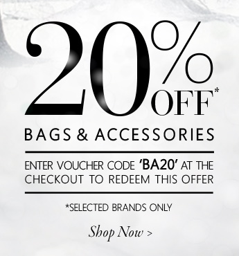 20% off bags & accessories