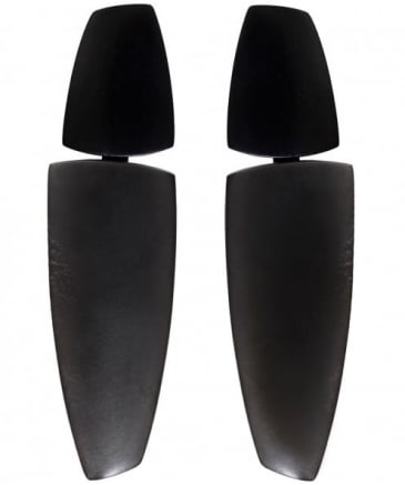 Ebony Clip On Earrings