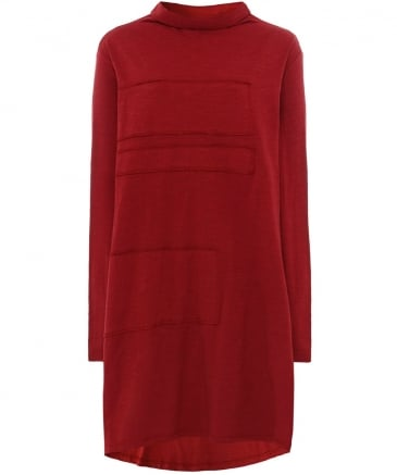 Jersey Panel Applique Tunic Dress