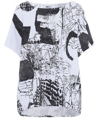 Printed Japanese Jersey Top