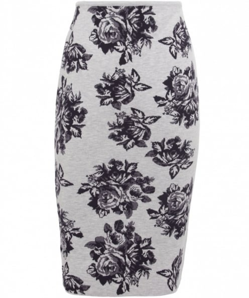 MSGM Rose Knitted Pencil Skirt