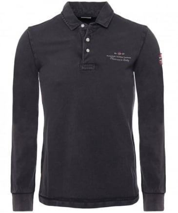 Long Sleeve Pique Elbas Polo Shirt