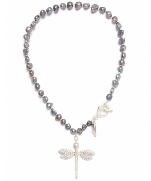 Nouv-Elle Dragonfly Beaded Necklace
