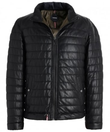 Leather Baffle Quilted Footloose Jacket