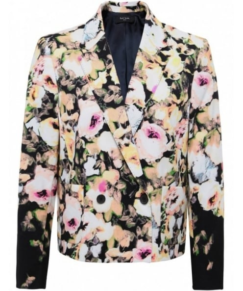 Paul Smith Black Floral Cropped Jacket