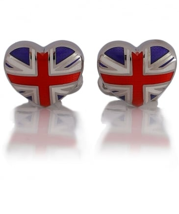 Heart Flag Cufflinks