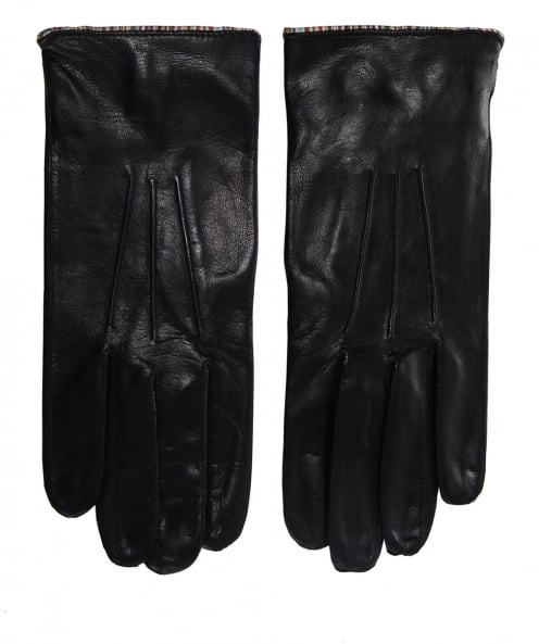 Paul Smith Leather Striped Trim Gloves