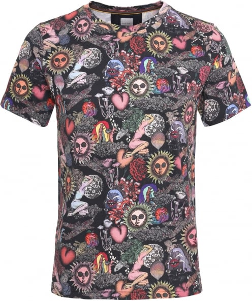 Paul Smith Printed Crew Neck T-Shirt