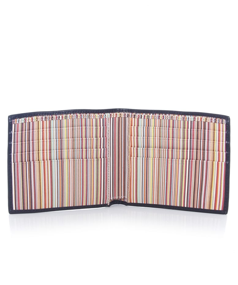 Paul Smith Signature Stripe Leather Wallet