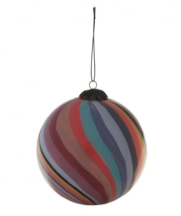 Striped Glass Bauble
